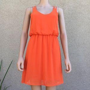 Carrot Orange Chic Dress